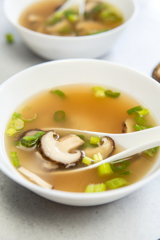 Miso Soup with Shiitake Mushrooms in just 5 ingredients!
