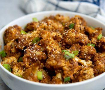 Vegan General Tso's Cauliflower - NO FRY