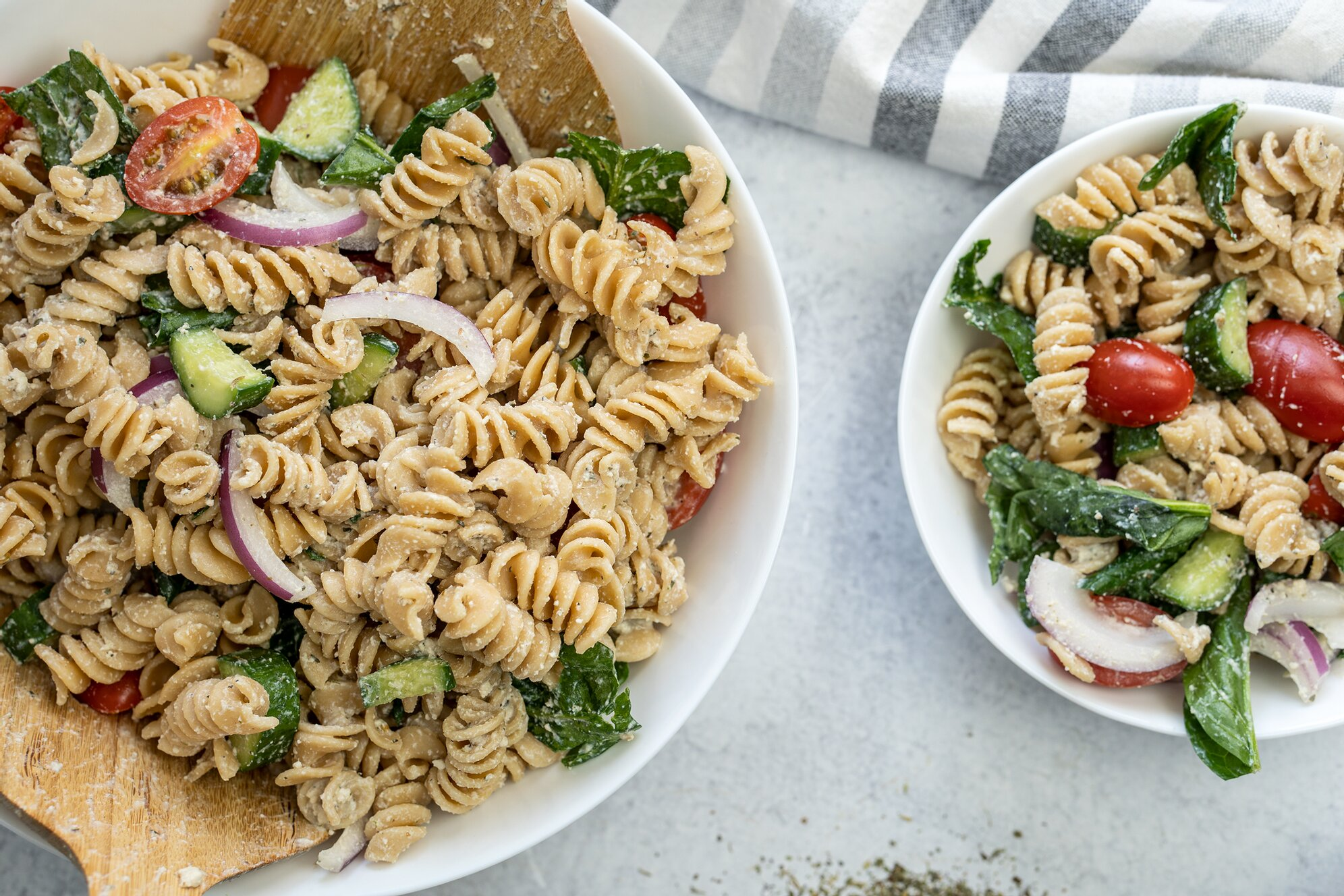 Vegan Cold Pasta Salad with OIL FREE Dressing