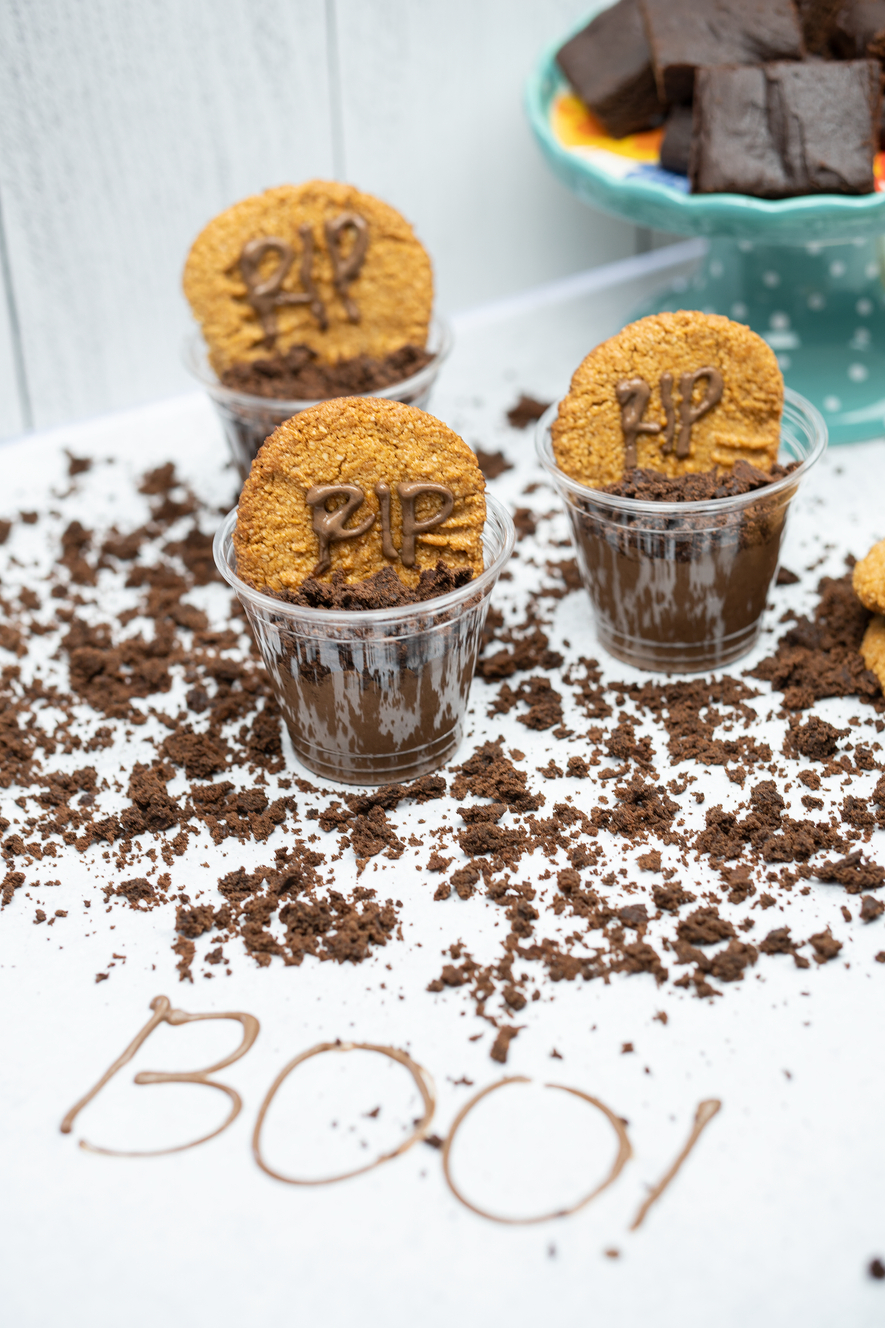 Vegan Chocolate Graveyard Pots